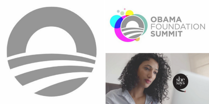 @ObamaFoundation #Summit to ft #global #civic #leaders like @TrishaBShetty of @SheSaysIndia #NoCriticsJustArtists